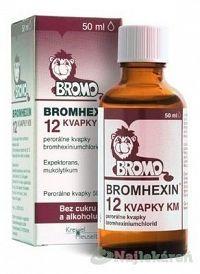Bromhexin 12 kvapky KM gtt.por.1 x 50 ml