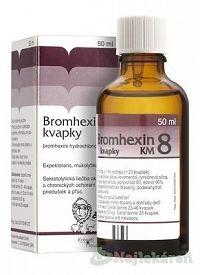 Bromhexin 8-kvapky KM sol.por.1x50ml