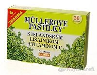 Müllerove pastilky s islandským lišajník a vitamín C 36 ks