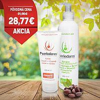 Psorioderm balíček na psoriatickú pokožku a na psoriázu vo vlasoch Psorioderm krém 100ml a Psorioderm šampón 250ml