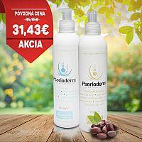 Psorioderm balíček na psoriázu a seboreu Psorioderm telové mlieko 250ml aPsorioderm sprchový gél 250ml