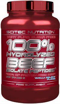 100% Hydrolyzed Beef Peptides - Scitec Nutrition Jahoda 900g