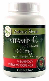 Vitamin C so šípkami 1000mg s predĺženým účinkom 100 tabliet