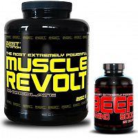 Muscle Revolt + BEEF Amino Zadarmo od Best Nutrition 2250 g + 250 tbl. Čokoláda+banán
