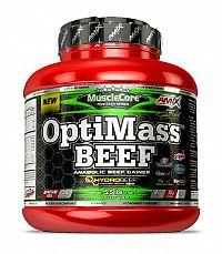OptiMass Beef Anabolic Gainer - Amix 2500 g Double Choco Fudge