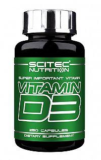 Vitamin D3 - Scitec Nutrition 250 kaps.