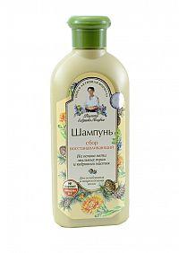 Babička Agafa - Obnovujúci šampón na báze 5 mydlových bylín s cédrovou esenciou - 350 ml Varianta: Normál