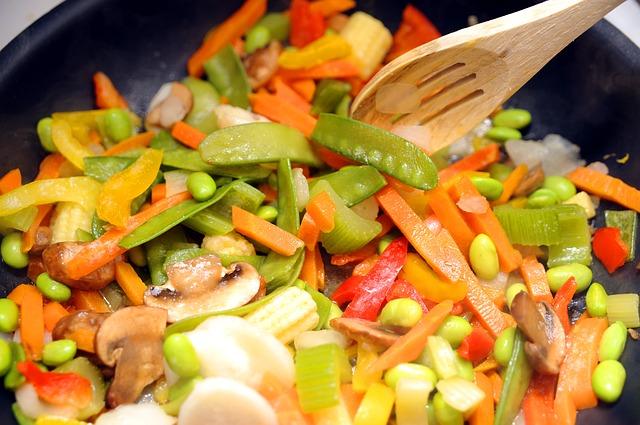 Zdravý zeleninový šalát