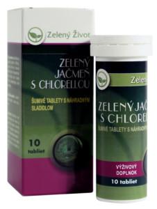 zelený jačmeň s chlorellou