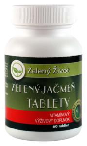 zelený jačmeň-tablety