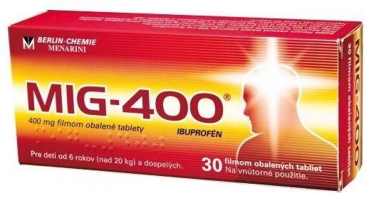 MIG-400 30 tabliet proti bolesti