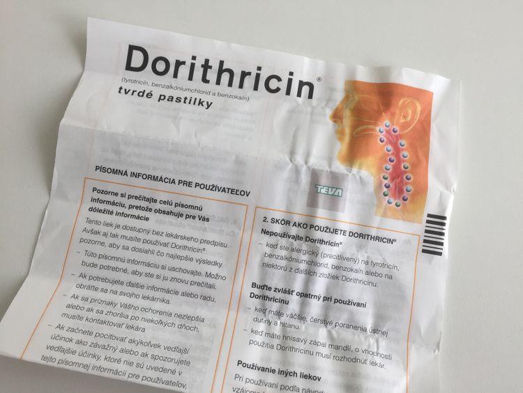Príbalový leták Dorithricin