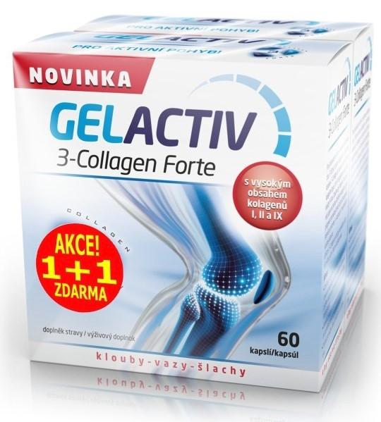 Gelactiv 3-Collagen Forte 120 cps.