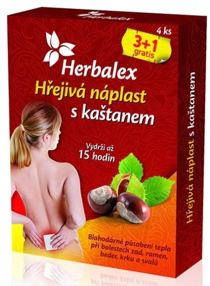 Herbalex Hrejivá náplasť s gaštanom 4 ks