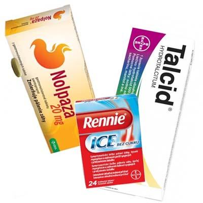 Lieky proti žalúdočnej kyseline, na pálenie záhy