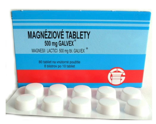 MAGNESII LACTICI 500 MG, Magnéziové tablety Galvex