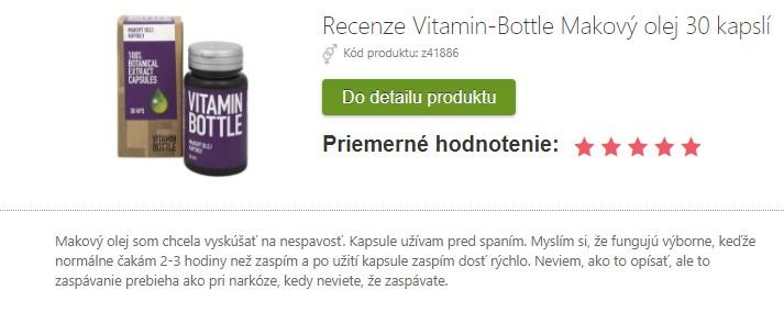 Makový olej v tabletkách skúsenosti