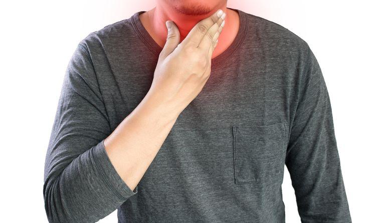 Pálenie záhy v hrdle