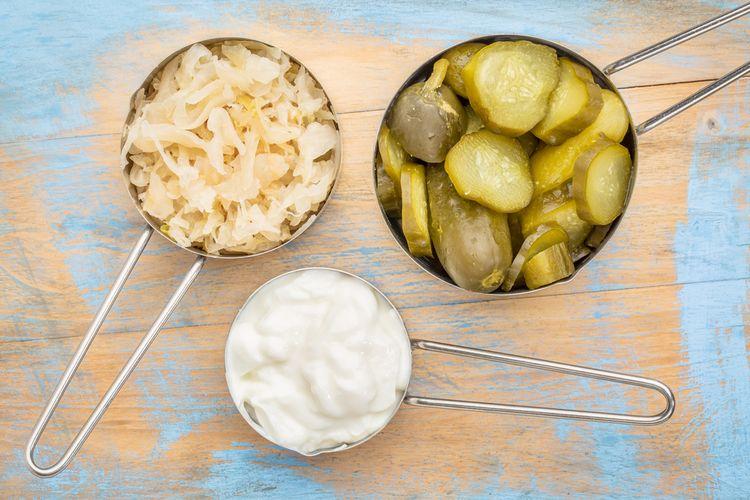 Prírodné probiotiká - kvasená kapusta, uhorky, mliečne výrobky