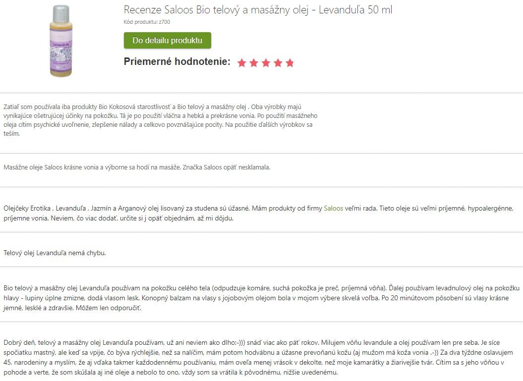 Recenzie a skúsenosti s používaním levanduľového oleja