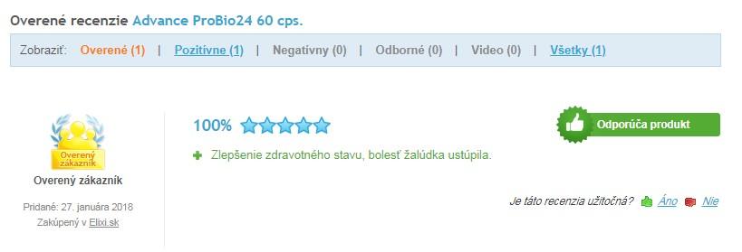 Recenzie a skúsenosti s Probio24 na heureke