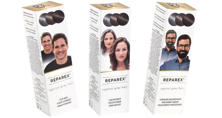 Reparex proti šedivým vlasom pre mužov, pre ženy, na bradu a fúzy