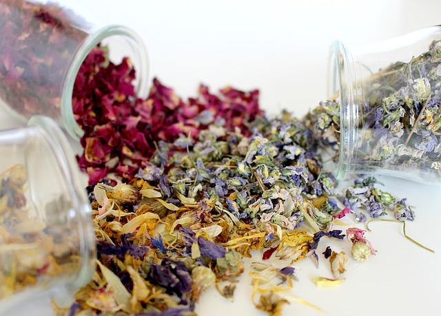 Sušené bylinky na podporu trávenia