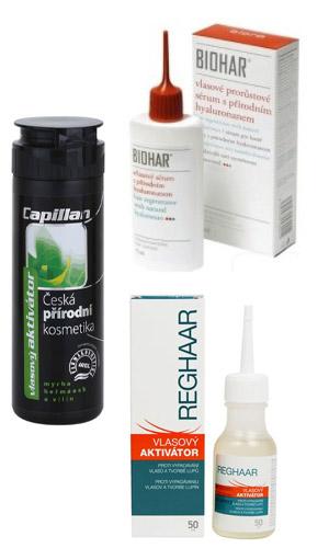 Vlasové aktivátory Capillan, Biohar a Reghaar