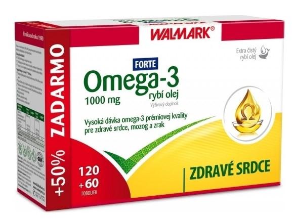 Walmark Omega-3 rybí olej Forte 1000 mg 180 tbl.